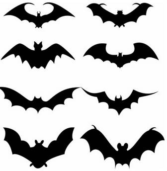 Set of bat silhouette Vector misc - Free vector for free download