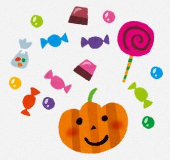 ハロウィンのイラスト「お菓子・キャンディー・チョコレート」: 無料イラスト かわいいフリー素材集