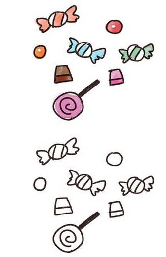 ハロウィンのお菓子のイラスト「キャンディ・チョコレート」: ゆるかわいい無料イラスト素材集