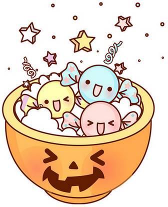 ハロウィンのイラストNo.097『かわいいキャンディ』/無料のフリー素材集【花鳥風月】