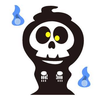 ガイコツ(死神)のフリー素材|WEB・ホームページ素材、イラスト、壁紙、写真が無料でダウンロード
