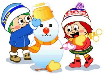 冬のイラスト-ゆきだるま(キッズ):冬のそざい:キッズ@nifty