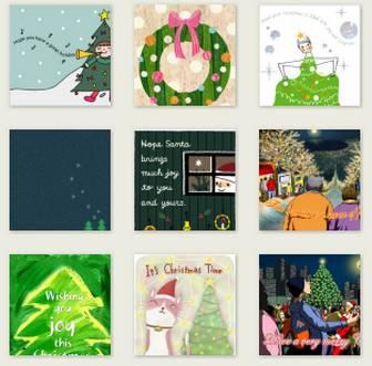 クリスマス - グリーティングカード - ギフト&カード - キヤノン クリエイティブパーク