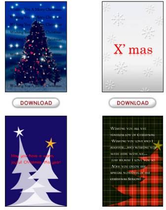 プリントアウトファクトリー クリスマスカード