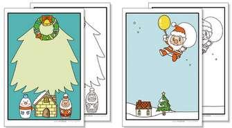 クリスマスカード 無料ダウンロード|幼児の学習素材館