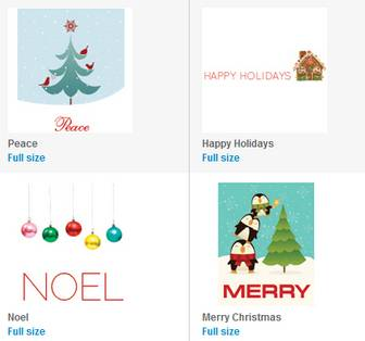 Free Printable Holiday Cards, Gift Wrap, and Photo Cards