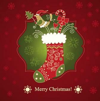 クリスマスカード/グリーティングカードのイラストai/eps | ベクタークラブ<イラストレーター素材が無料>