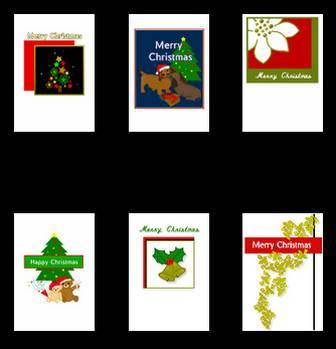クリスマスカード(印刷用)