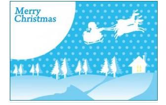 クリスマスカード2 | JPGイラスト無料素材