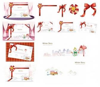 Beautiful threedimensional christmas cards vector Vector Christmas - Free vector for free download