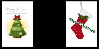 クリスマスカード・クリスマスのイラスト『Little Garden クリスマスカード』無料素材