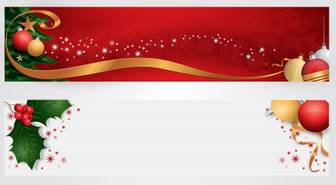 Merry Christmas Website Header Free Vector | Free Download Christmas Decoration Vector