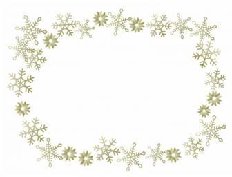雪の結晶(ゴールド)のフレーム・枠素材 | 無料のイラスト・かわいいテンプレート | 素材ライブラリー