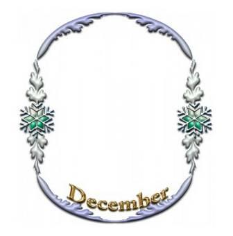 Decemberのフレームのイラストをダウンロード | イラスト無料【DDBANK】