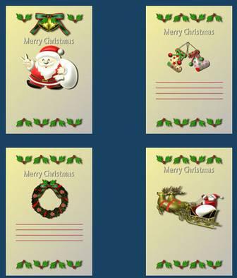 クリスマス素材館/クリスマスカード/イラスト素材/Web素材無料