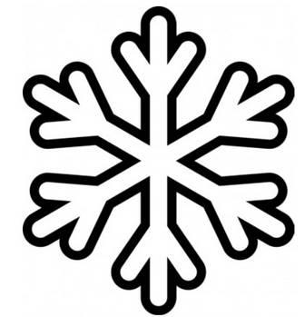 雪の結晶モノクロ-ベクトル クリップ アート-無料ベクトル 無料でダウンロードします。