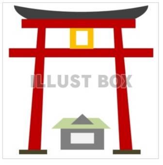 無料イラスト 神社の鳥居