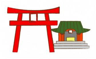 神社と鳥居・イラスト | FLAT DESIGN::
