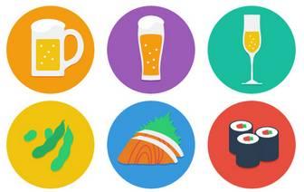 忘年会!新年会!居酒屋食べ物イラスト素材 | 株式会社アクトゼロ/バイラル動画広告・ソーシャルメディアマーケティング