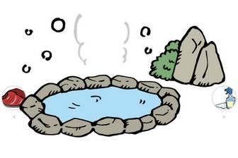 温泉の無料イラスト | かわいいイラストならイラストレイン