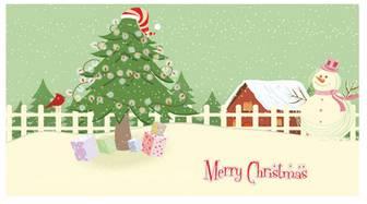 クリスマスのイラストNo.22『クリスマスカード』/無料のフリー素材集【花鳥風月】