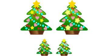 クリスマスのイラスト(クリスマスツリー)-フリー素材・無料イラスト「ふぁんし~・ぱ~つ・しょっぷ」
