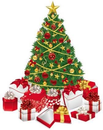 クリスマスツリー/クリスマスプレゼントのイラストai/eps | ベクタークラブ<イラストレーター素材が無料>
