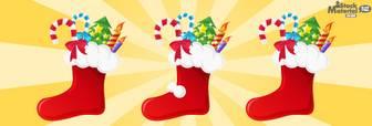 クリスマスブーツ/靴下のイラスト素材|商用可能な無料(フリー)のイラスト素材ならストックマテリアル