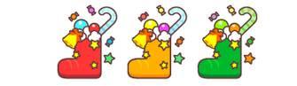 クリスマスのイラスト、フリー素材(2)かわいいサンタクロースやプレゼントブーツ 素材プチッチ