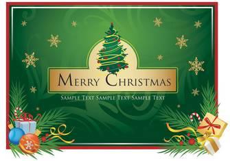 クリスマス ブーツ、緩いの葉、クリスマス カード | 無料素材イラスト・ベクターのフリーデザイナー
