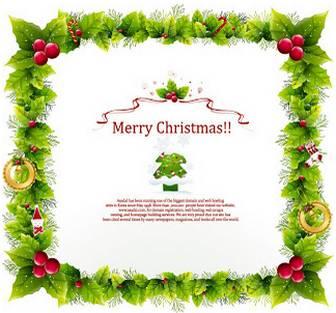 クリスマス フレーム Christmas Frame Vector Graphic | ai eps イラストレーター