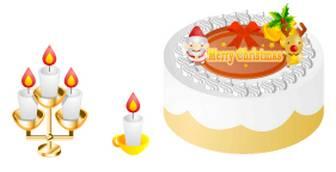 クリスマスの無料イラスト。ケーキ、サンタさん、トナカイ|フリー素材|素材プチッチ