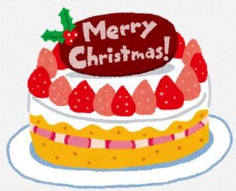 クリスマスケーキのイラスト「苺のケーキ」: 無料イラスト かわいいフリー素材集