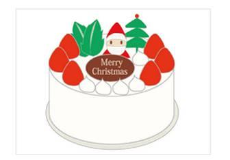 クリスマスケーキ|冬 フリー イラスト 素材