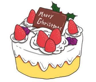 クリスマスケーキの無料イラスト | かわいいイラストならイラストレイン
