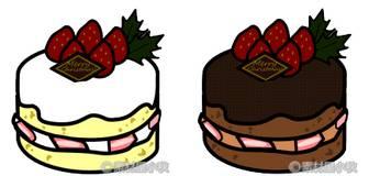 素材屋小秋: クリスマスケーキの無料イラスト・フリー素材