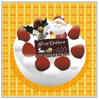 クリスマスケーキ イラスト | white sketch