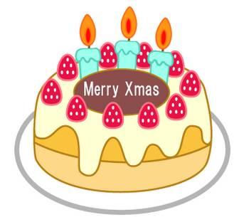 クリスマスケーキのフリー素材|WEB・ホームページ素材、イラスト、壁紙、写真が無料でダウンロード