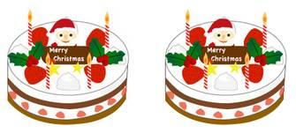 クリスマスケーキのイラスト1
