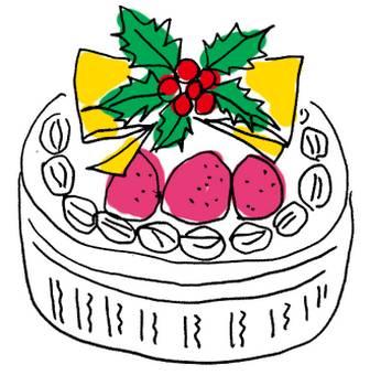 クリスマスケーキ【イラスト無料素材】カラー : クリスマス イラスト 素材