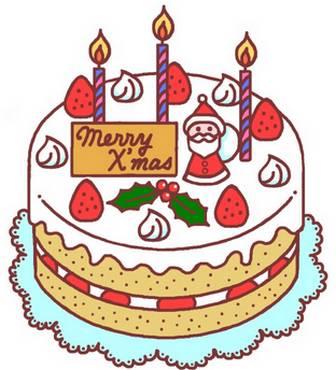 クリスマスケーキ(カラー)/フード・ケーキ1/クリスマスのイラスト素材クリスマスケーキ(カラー)/フード・ケーキ1/クリスマスのイラスト素材