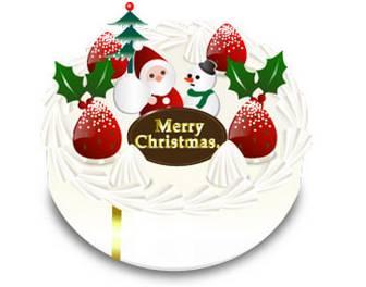 イラスト無料素材集Lemon | クリスマス素材 クリスマスケーキ 無料素材