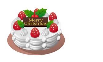 クリスマスケーキイラスト無料素材・クリスマス無料素材 フリー素材・イラスト・テンプレート
