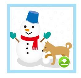 冬のイラスト無料ダウンロード : 雪だるまイラスト   みんなで楽しむ
