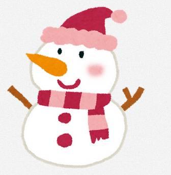 クリスマスのイラスト「雪だるま」: 無料イラスト かわいいフリー素材集