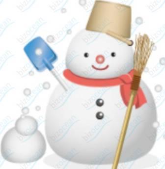 赤いマフラーをした雪だるまイラスト テンプレートの無料ダウンロードは【書式の王様】