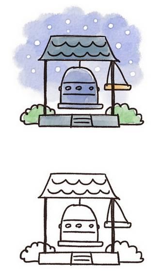 除夜の鐘のイラスト: ゆるかわいい無料イラスト素材集