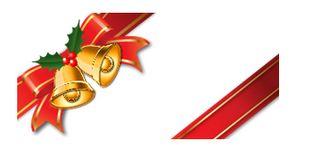 斜めがけのリボンクリスマスベル付 画像フリー素材|無料素材倶楽部