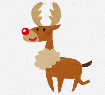 クリスマスのイラスト「トナカイ」: 無料イラスト かわいいフリー素材集