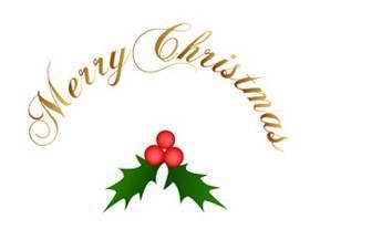 無料で使える!クリスマスカード ヒイラギ | フリー素材集Grand Floor